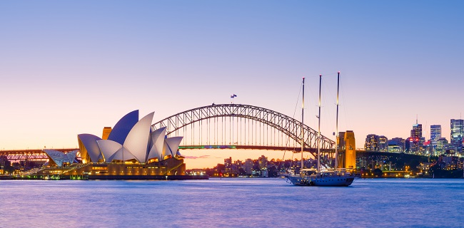 Sydney Opera House and Harbour Bridge Dusk 3 2019 06 21